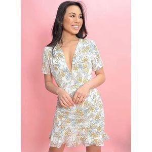 Sage The Label Ocean Muse Mini Dress - Ivory multi